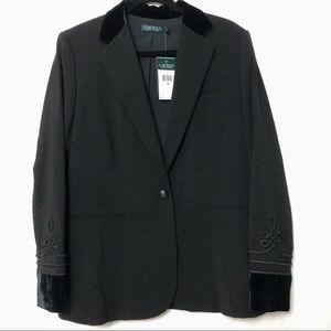 Ralph Lauren Velvet trimmed blazer